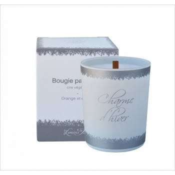 Bougie parfumée cire végétale - Souffle hivernal - 180 gr - Les Lumières du Temps