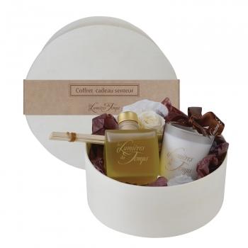 Coffret parfumeur 100 ml + bougie 90 gr - Cachemire- Les Lumières du temps