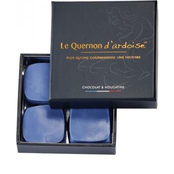 Chocolat bleu et nougatine aux amandes et noisettes caramélisées (Le Quernon d'Ardoise), 60 g