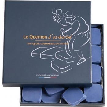 Chocolat bleu et nougatine aux amandes et noisettes caramélisées (Le Quernon d'Ardoise), 245 g