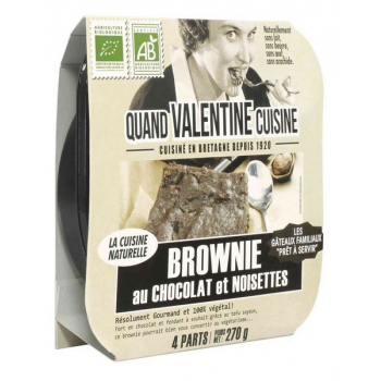 Brownie chocolat-noisettes, 270 g