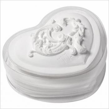 Boîte coeur feuilles de savon parfumées Jasmin - 38 gr - Mathilde M