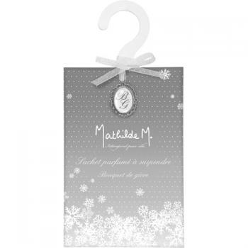 Sachet - cintre parfumé à suspendre, bouquet de givre  - Mathilde M.