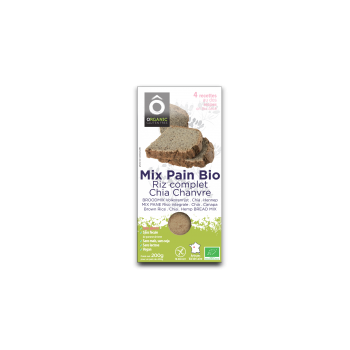 Mix Pain Riz . Chia . Chanvre BIO Vegan sans gluten 200g