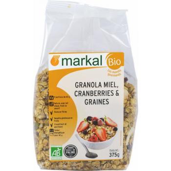 Granola Cranberries Et Graines, 375 g