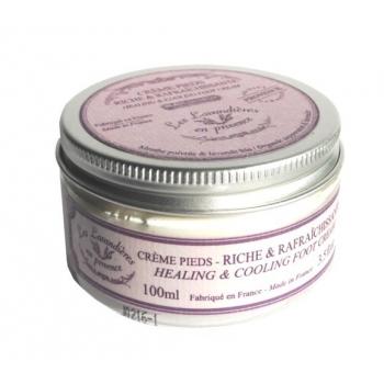 Crème pieds riche & rafraîchissante à la menthe poivré & lavande bio - Nicolosi créations