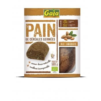 Pain de céréales germées Blé/amandes 500g