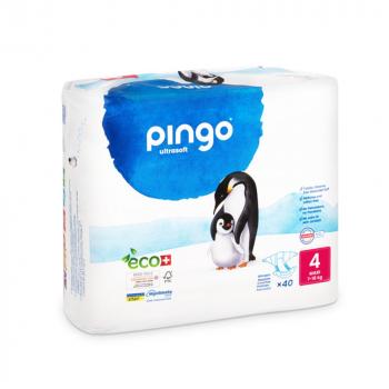PINGO couches écologiques jetables t4 (9-18 kg)