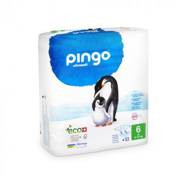PINGO couches écologiques jetables t6 (16-30 kg)