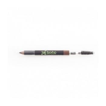 Crayon sourcils bio 02 Châtain - Boho Green Make-up