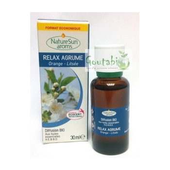 Diffusion Relax Agrume 30 ml Bio