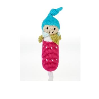 Radis - jouet hochet en crochet de coton équitable Pebble