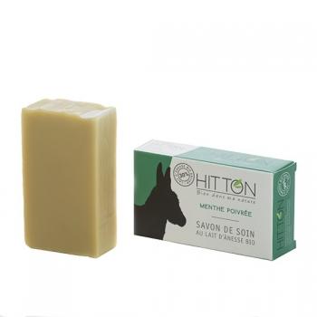 Savon au lait d'ânesse bio - Menthe poivrée  HITTON