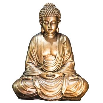Statuette Décoration Zen Bouddha Or Méditation