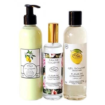 Coffret cosmétique Fleur de citronnier - Savonnerie de Bormes