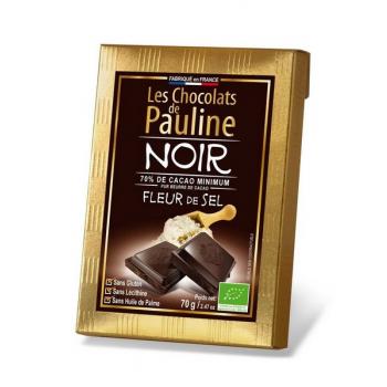 """Tablette de chocolat noir 70% de cacao, """"Fleur de sel"""", 70 g"""
