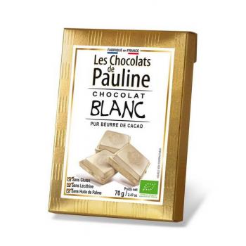Tablette de chocolat blanc, 70 g