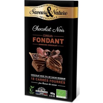 Carrés de chocolat noir suprême fondant, 80 g