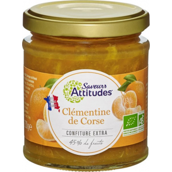 Confiture de Clémentine de Corse bio, 220 g