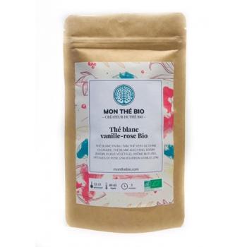 Thé blanc Vanille-rose BIO