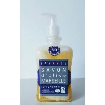 Savon d'olive marseille bio - lavande - 500ml - Plaisant savons & cosmétiques
