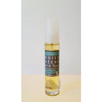 Huile sèche bio menthe poivrée - 50 ml - Plaisant savons & cosmétiques