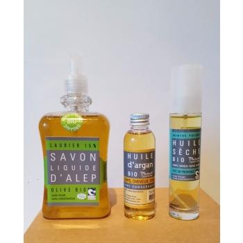 Coffret cosmétique  bio savons & soins - Plaisant savons & cosmétiques