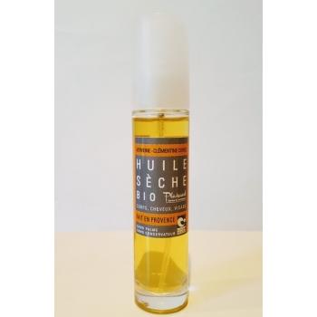 Huile sèche bio verveine - clémentine corse - 50 ml - Plaisant savons & cosmétiques
