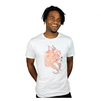 Tshirt motif lynx en coton bio