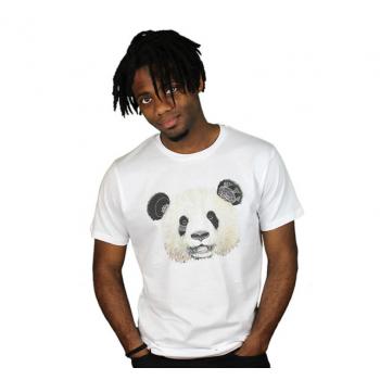 Tshirt motif panda en coton bio