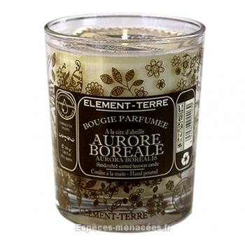 Bougie naturelle parfumée Aurore Boréale