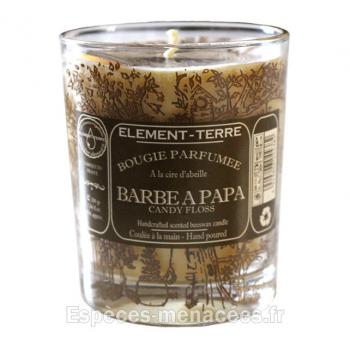 Bougie naturelle parfumée Barbe à papa