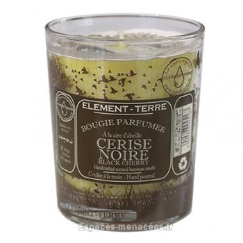Bougie naturelle parfumée cerise noire
