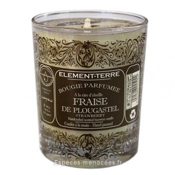 Bougie naturelle parfumée Fraise de Plougastel