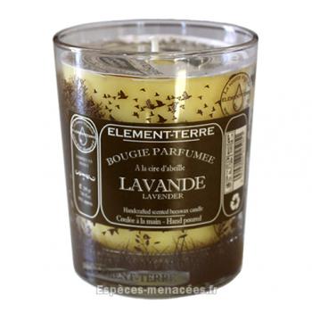 Bougie naturelle parfumée lavande