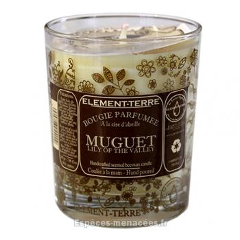 Bougie naturelle parfumée muguet