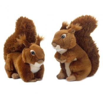Peluche d'écureuil roux - WWF - 23 cm