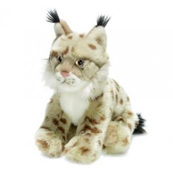 Peluche lynx beige - WWF - 23 cm