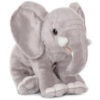 Peluche éléphant assis - WWF - 18 cm
