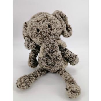 Badou l'éléphant - peluche en laine filée à la main équitable