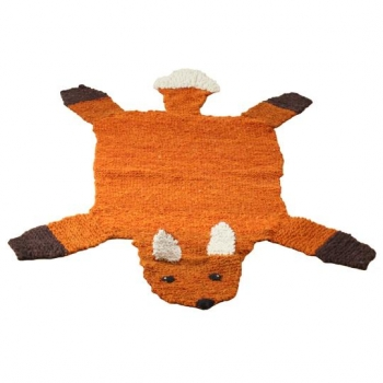 Tapis en laine filée à la main Renard - fait main, bio, équitable