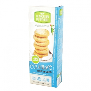 LE MOULIN DU PIVERT Biscuits bio Equi'libre Coco Bio & Vegan