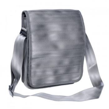 Sac Pierre gris clair en ceintures de sécurité recyclées