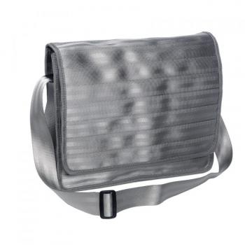 Grand sac Michel gris clair en ceintures de sécurité recyclées