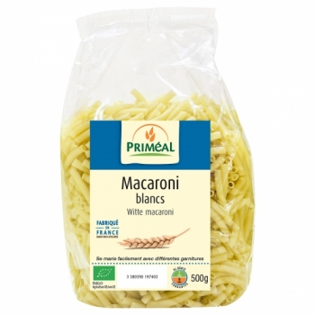 PRIMÉAL Macaroni blancs bio