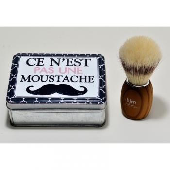 1 Boîte  Savon À Barbe Moustache + 1 Blaireau
