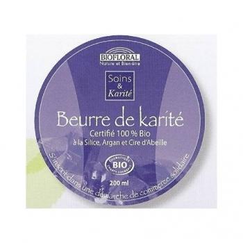 BIOFLORAL - Beurre de Karité à la Silice, Argan et Cire d'Abeille