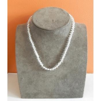 Collier Perles Cristal de Roche