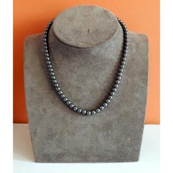 Collier Perles Hématite