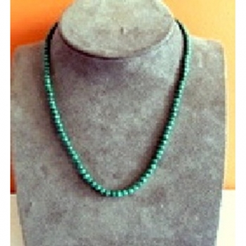 Collier Perles Malachite 1